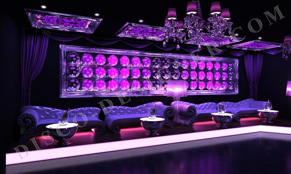 club design led bubble wall club mobel baroque disco design